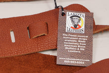 "Load image into Gallery viewer, Lakota Leathers 3"" Tobacco American Bison Guitar Strap"