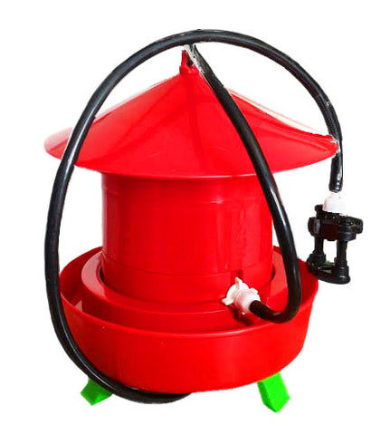 1 Single Adjustable Hight Automatic Bird Drinker with Garden Hose/Faucet Connector OR PVC Pipe Connector