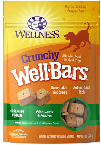 Wellness Natural Grain Free Wellbars Crunchy Lamb and Apples Recipe Dog Treats