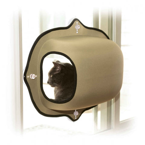K&H Pet Products EZ Mount Tan Window Pod Kitty Sill