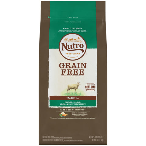 NUTRO Adult Grain Free Pasture-Fed Lamb, Lentils and Sweet Potato Recipe Dry Dog Food