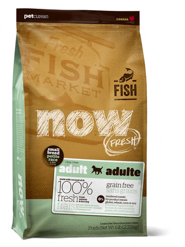 Petcurean Now! Fresh Grain Free Adult Small Breed Fish Recipe Dry Dog Food