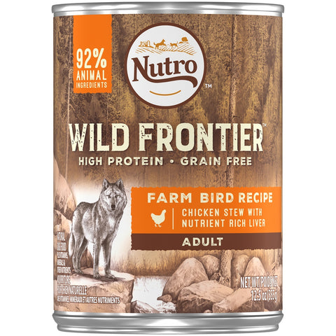 Nutro Wild Frontier Grain Free Farm Bird Recipe Canned Dog Food