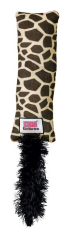KONG Kickaroo Plush Catnip Filled Giraffe Print Cat Toy