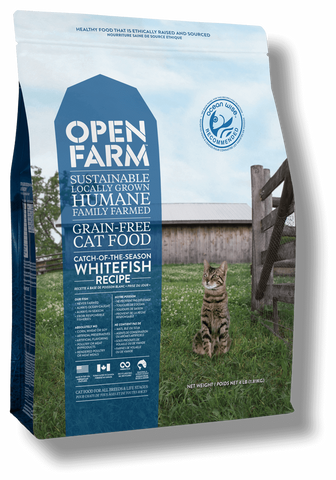 Open Farms Catch-of-the-Season Whitefish Recipe Grain Free Cat Food 4 lb