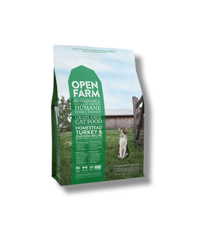 Open Farms Homestead Turkey & Chicken Recipe Grain Free Dry Cat Food 4lb