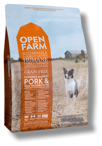 Open Farms Farmer's Table Pork & Root Vegetable Recipe Greain Free Dry Dog Food