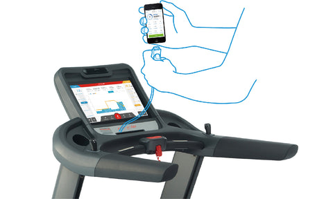 Android/IPhone device compatibility - M7 Treadmill