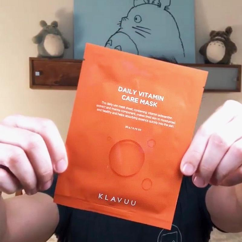 KLAVUU Daily Vitamin Care Mask featuring Astaxanthin - M Review 87