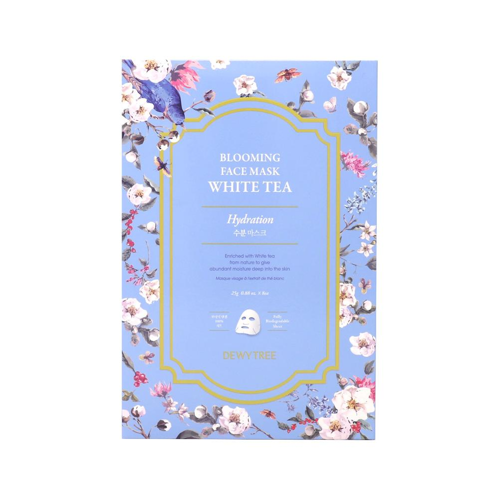 Blooming Face White Tea Mask - 1 Box of 8 Sheets