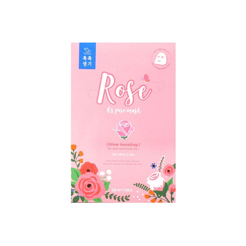 It's Pure Rose Mask - 1 Box of 10 Sheets