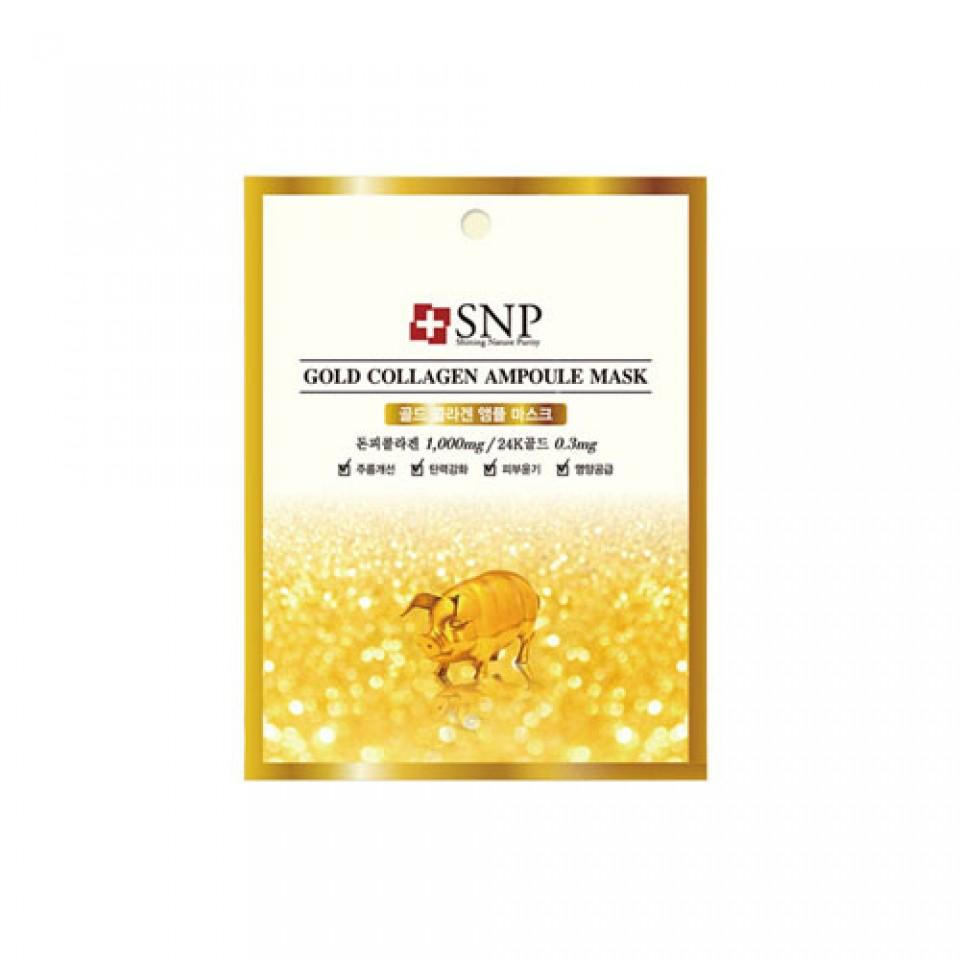 Gold Collagen Ampoule Mask - 1 Box of 10 Sheets