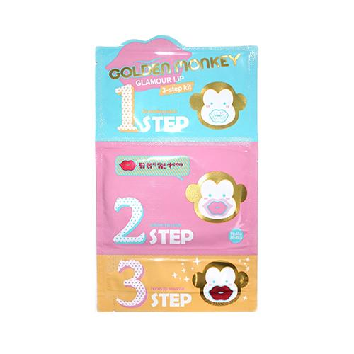 Golden Monkey Glamour Lip 3 Step Kit - 1 Sheet