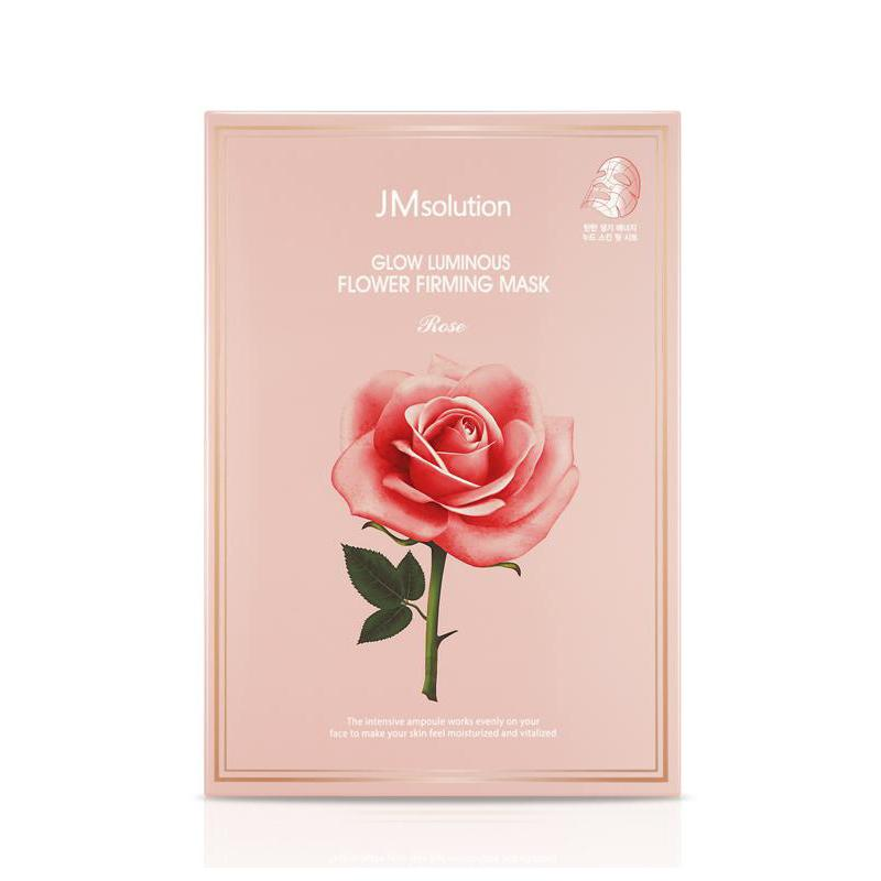 Glow Luminous Flower Firming Mask Rose - 1 Box of 10 Sheets