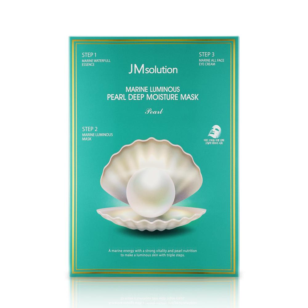 3 Step Marine Luminous Pearl Deep Moisture Mask - 1 Box of 10 Sheets