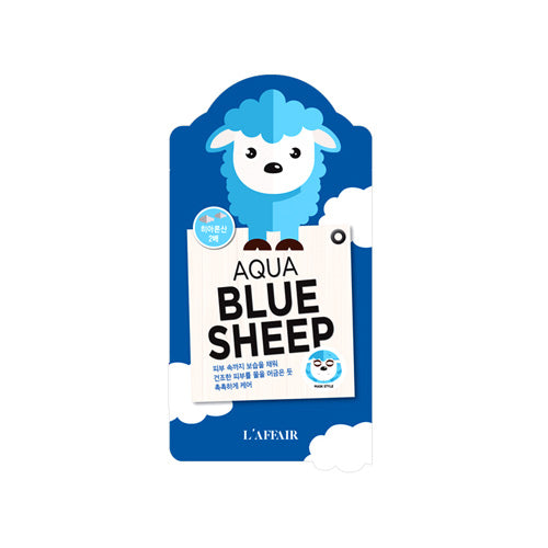 Animal Aqua Blue Sheep Mask - 1 Box of 10 Sheets