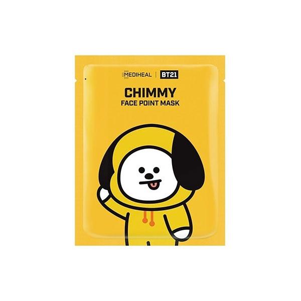BT21 Face Point Mask Chimmy - 1 Box of 4 Sheets