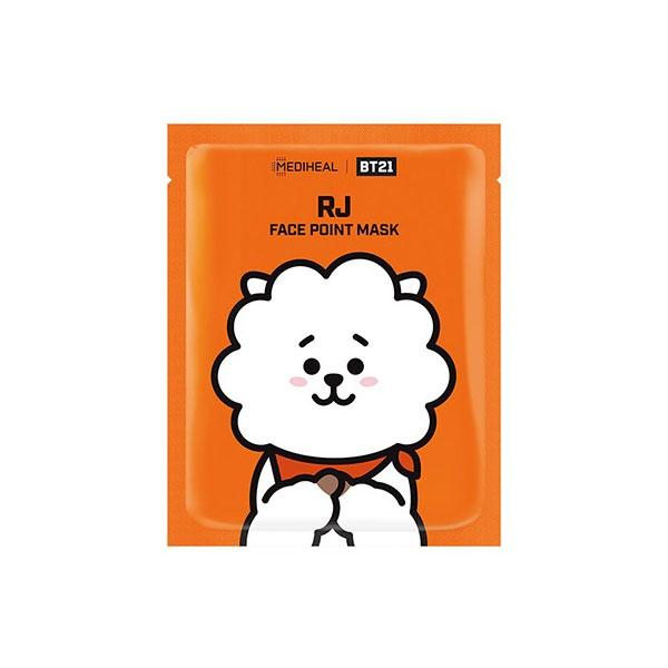 BT21 Face Point Mask RJ - 1 Box of 4 Sheets