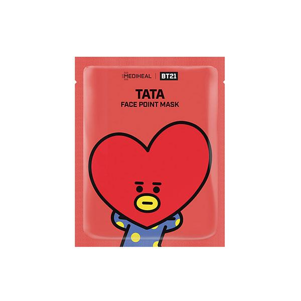 BT21 Face Point Mask Tata - 1 Box of 4 Sheets