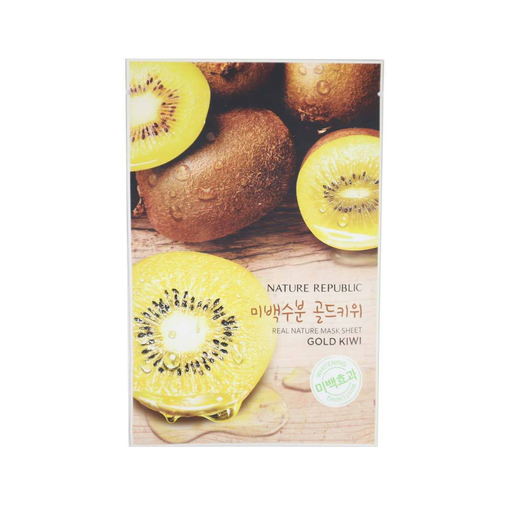 Real Nature Mask Sheet Gold Kiwi