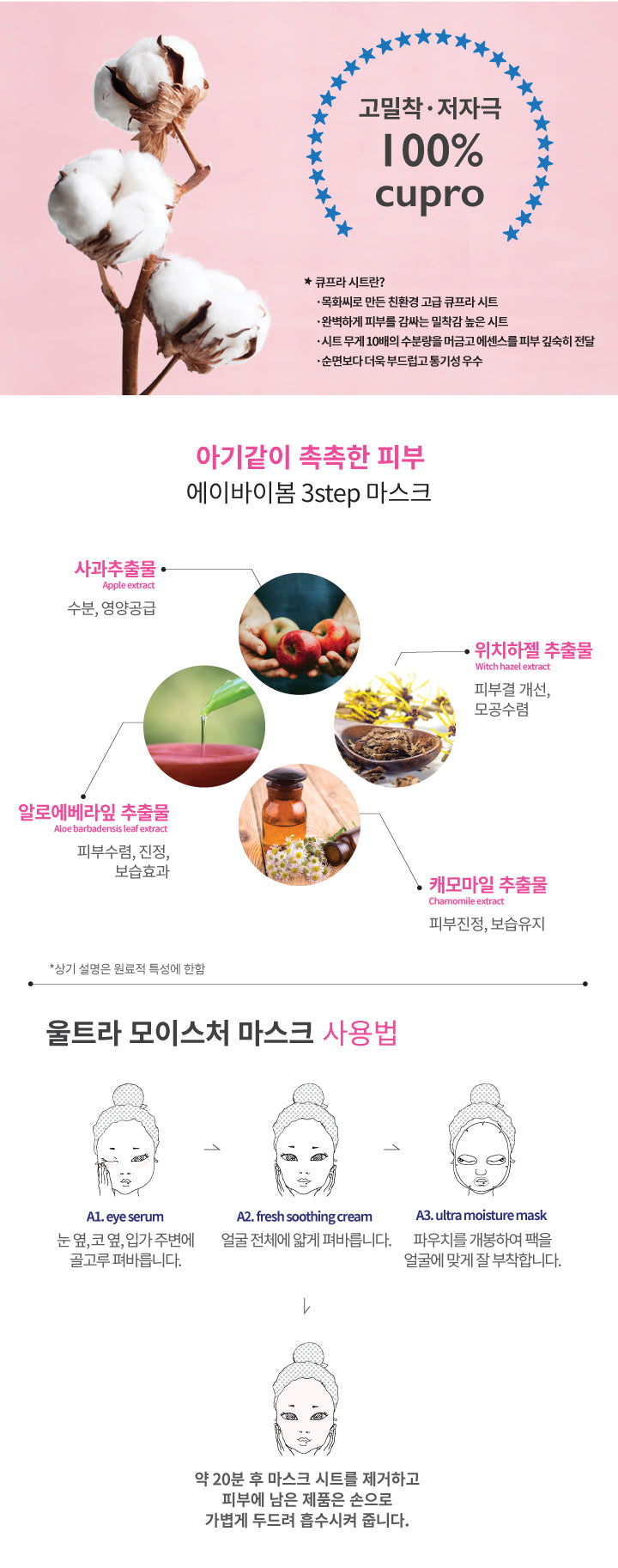 A by Bom Super Power Baby 3 Step Ultra Moisture Mask