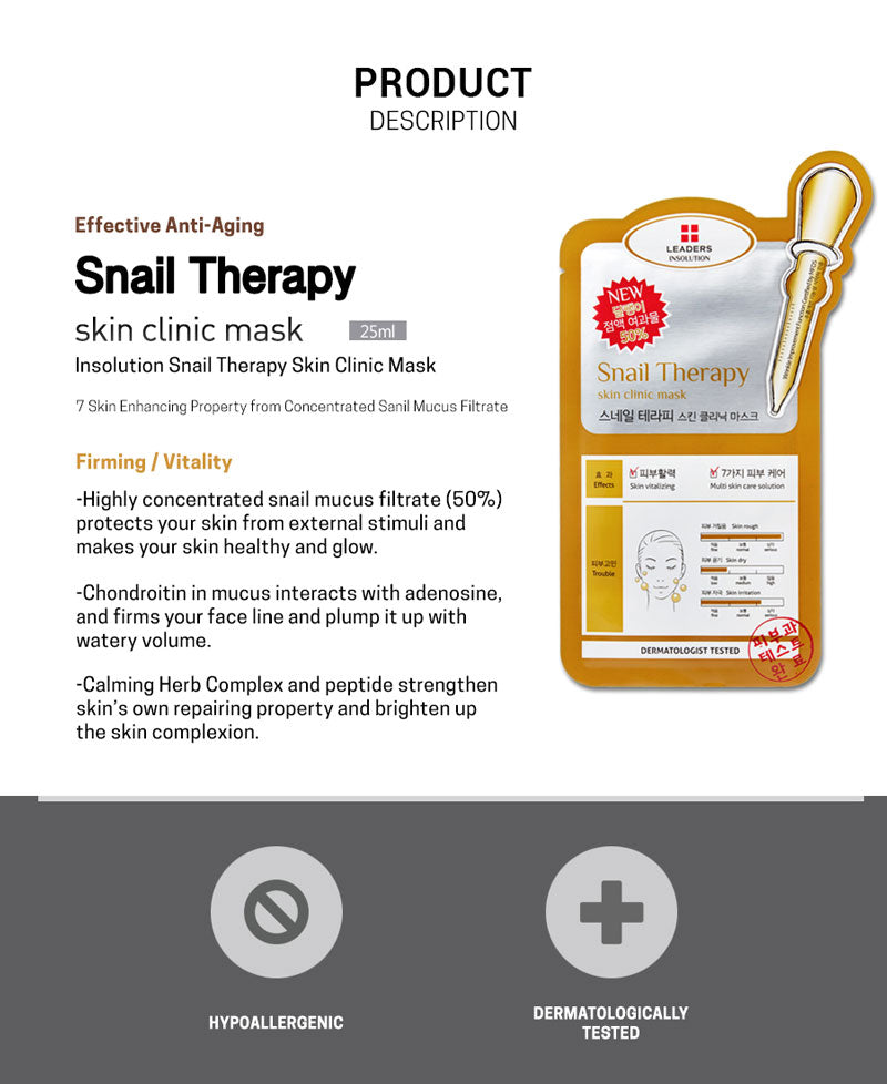 Leaders Snail Therapy Skin Clinic Mask
