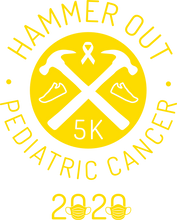 Load image into Gallery viewer, Hammer Out Pediatric Cancer t-shirt