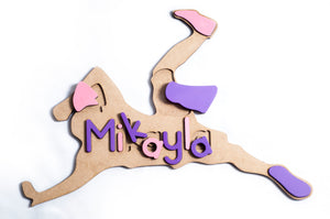 Wooden Themed Name Puzzle