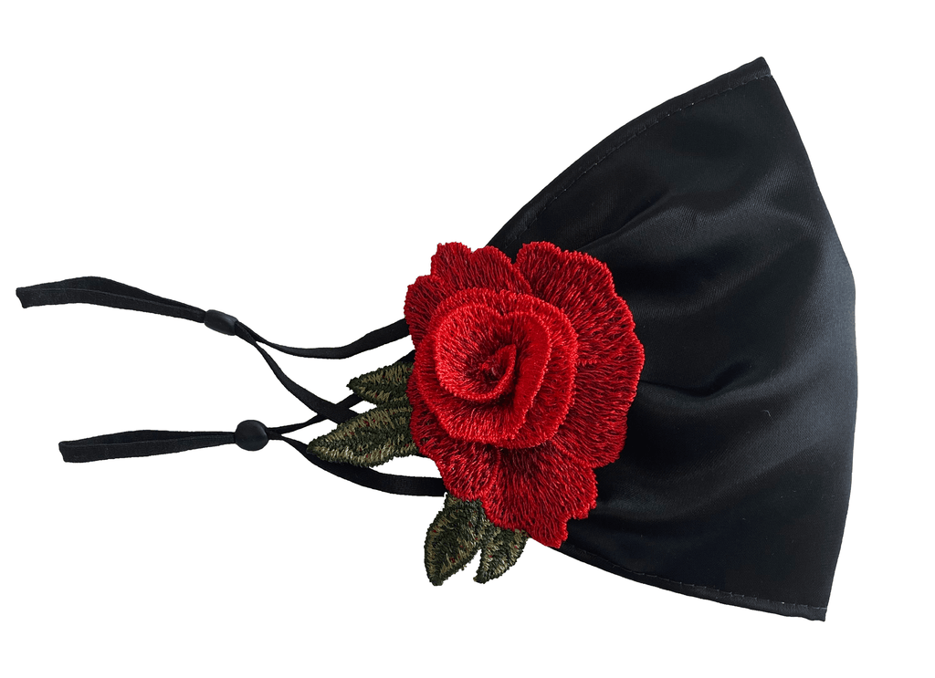 Black Face Mask - Rose 2