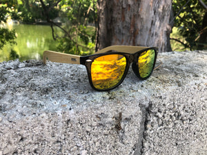 BambuQ Shades - Black & Orange
