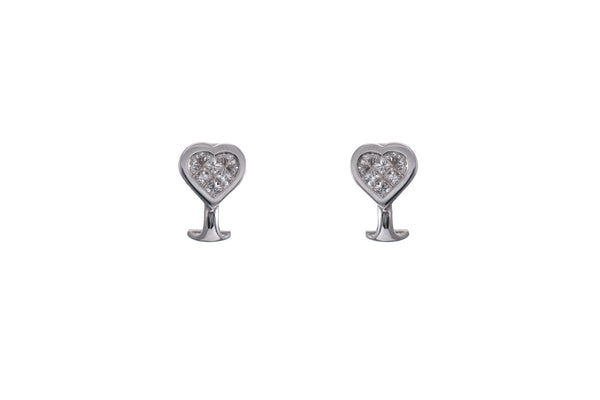 Diamond Heart Shape Earring