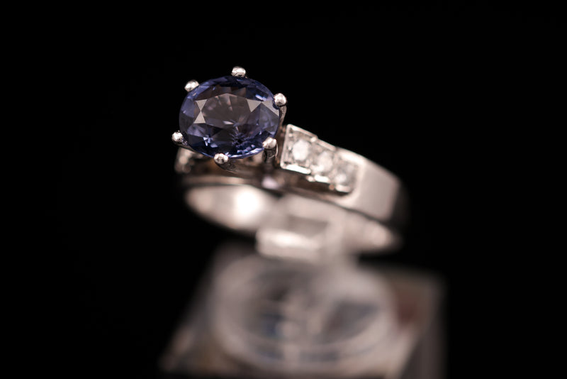 Purple Spinet Diamond Ring
