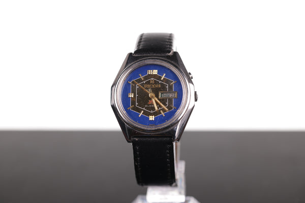 Vintage Ricoh Automatic Day-Date with Rare Dark Blue Dial