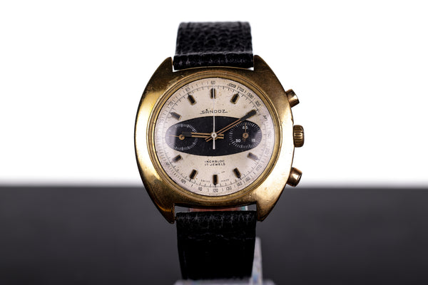 Vintage Oversized Sandoz Chronograph 41mm