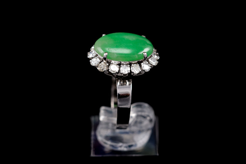 Diamond & Jade Ring