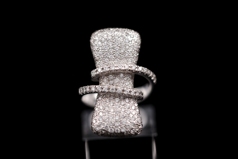 Pillow Shaped Diamond Ring