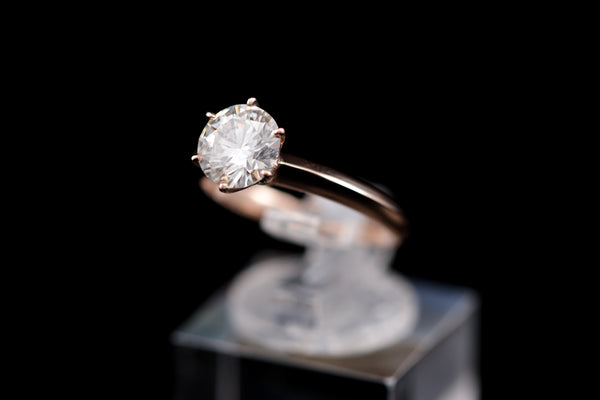 'Cartier' Design Solitaire Diamond Ring