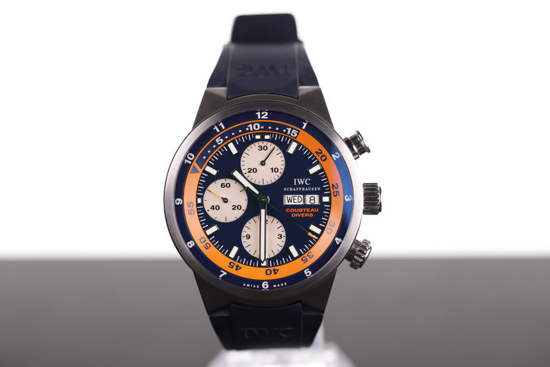 IWC Limited Edition Aquatimer Chronograph Cousteau Divers Cert B6