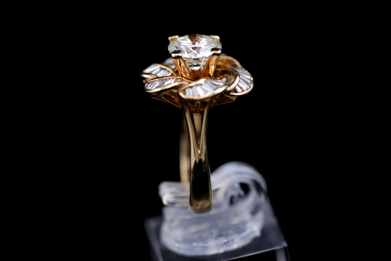 Solitaire Diamond Gold Ring