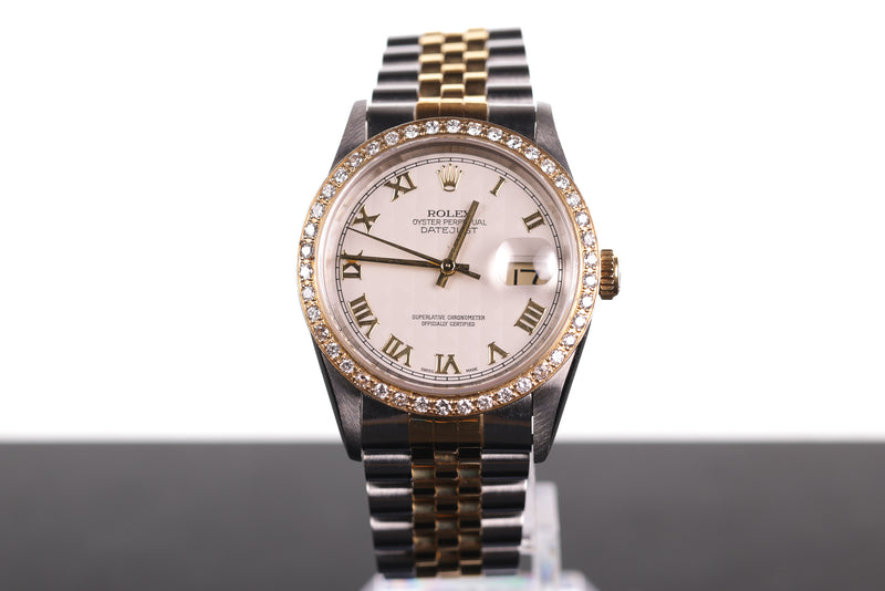 Rolex Datejust with Ivory Pyramid Dial