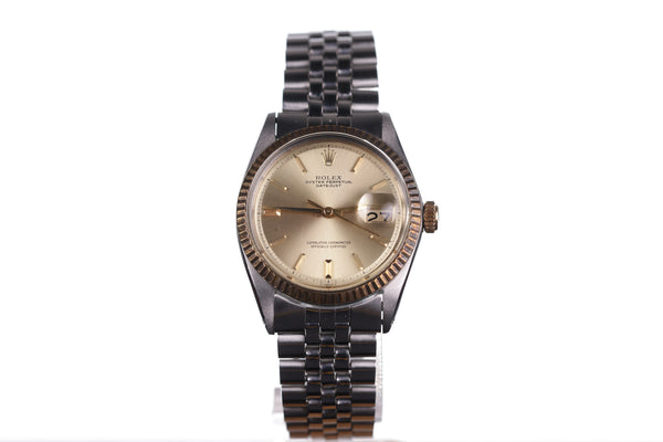 Vintage Rolex Datejust Automatic 1601 Yellow Gold Steel