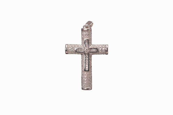 Diamond & White Gold Cross