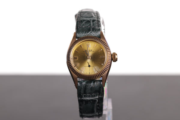 Rolex Ladies' Oyster Perpetual 18K Solid Gold