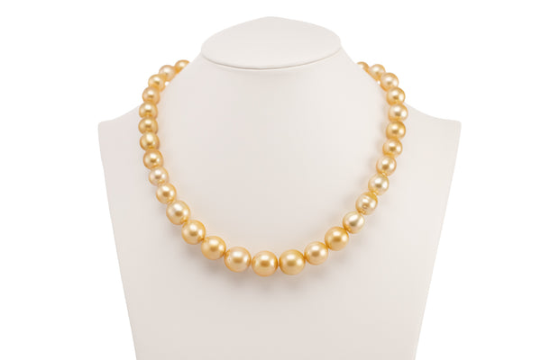 Gold Strand South Sea Pearl Necklace
