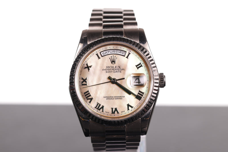 Rolex President in White Gold with Mother of Pearl Face