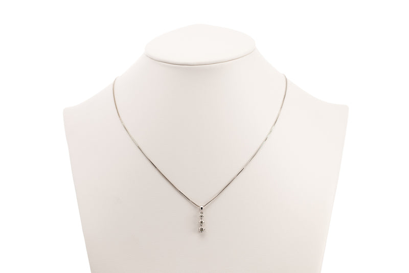 Diamond Pendant with White Gold Necklace