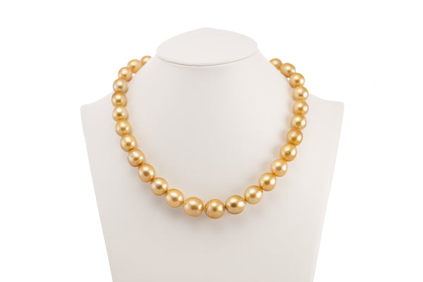 South Sea Pearl Deep Gold Necklace