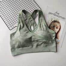 Load image into Gallery viewer, Camo Seamless Bra
