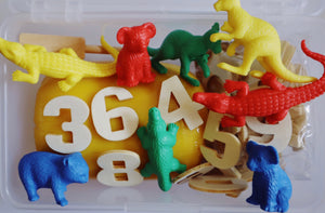Play Dough Play Kit - Numbers and Letters