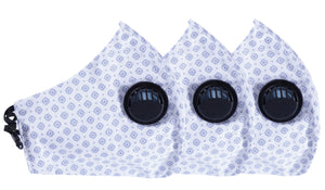 Pack of 3 Face Masks - 3PLY - Europa - Three Layer Filter- Anti Pollution - Polka Dots Pattern